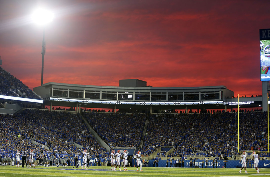 Scenes from the sidelines during the game between the Florida Gators and Kentucky Wildcats at Commonwealth Stadium on Saturday, Sept. 19, 2015 in Lexington, Ky. Florida defeated Kentucky 14-9. Matt Stamey/Staff photographer
