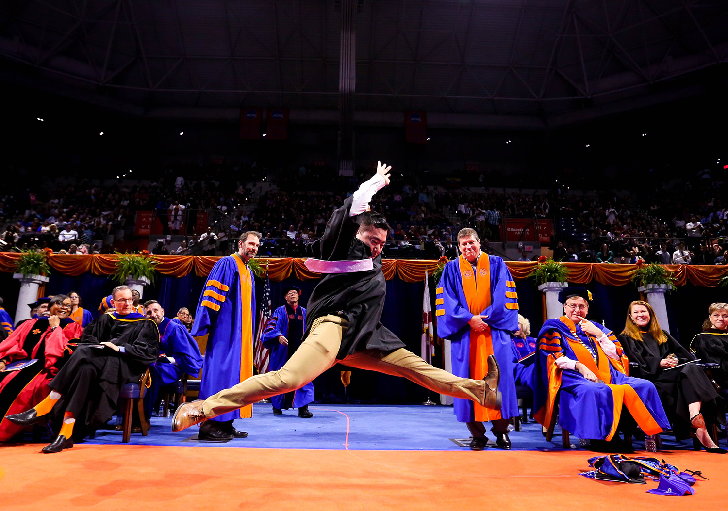 Images from the University of Florida Graduation ceremony on Saturday, Dec. 16, 2017 in Gainesville, Fla. (Photo by Matt Stamey)