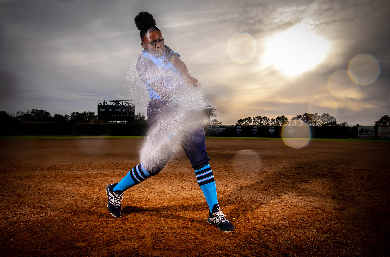 Santa Fe College Softball player Dontaysha Gobourne photographed on Jan. 23, 2020 in Gainesville, Fla.  (Matt Stamey/Santa Fe College ) ***Subjects Have Releases***