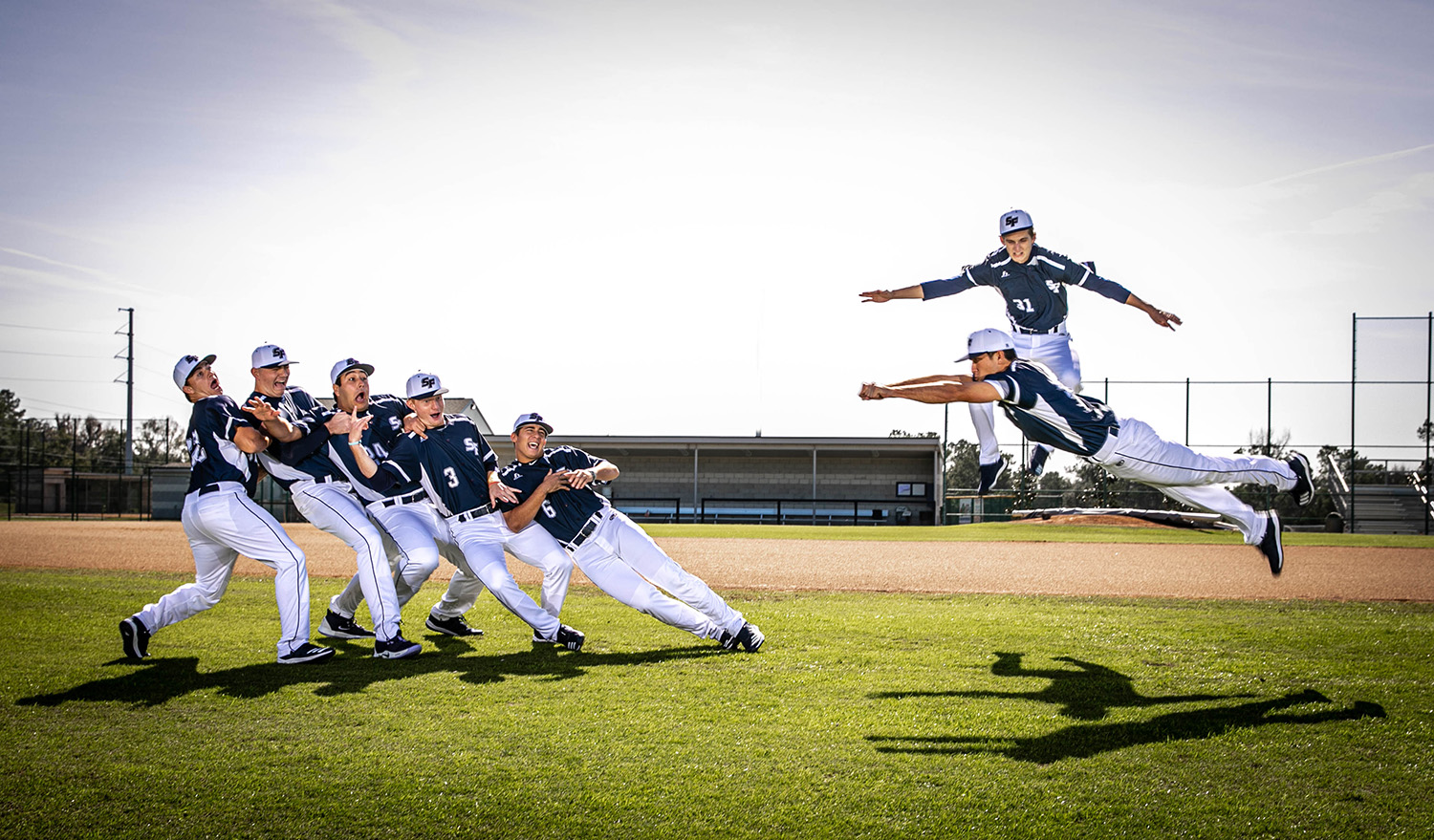 Santa Fe College Baseball returning sophomores photographed on Jan. 17, 2020 in Gainesville, Fla.  (Matt Stamey/Santa Fe College ) ***Subjects Have Releases***