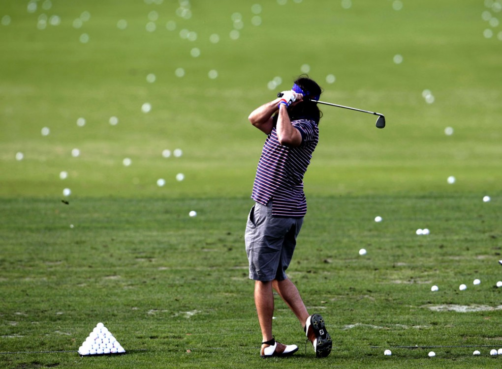 Famous non-golfers on a famous golf coruse